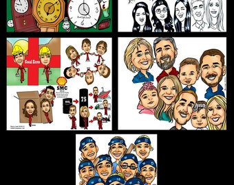 Corporate Gift, Retirement Gift, Going Away Gift, Farewell Gift, Custom Gift, Personalized Gift, Custom Caricature, Wedding Caricature