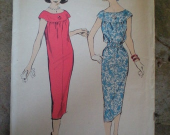Vintage 1960s Advance 8618 Sew-Easy Slimline Dress Pattern