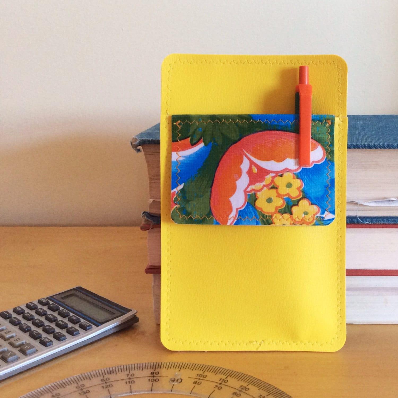Nerd Power Vinyl Pocket Protector In Bright Yellow Matte Vinyl