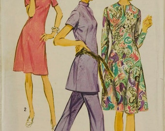Vintage Simplicity 9503 Sewing Pattern Tunic, Dress and Pants Size 12 Bust 34