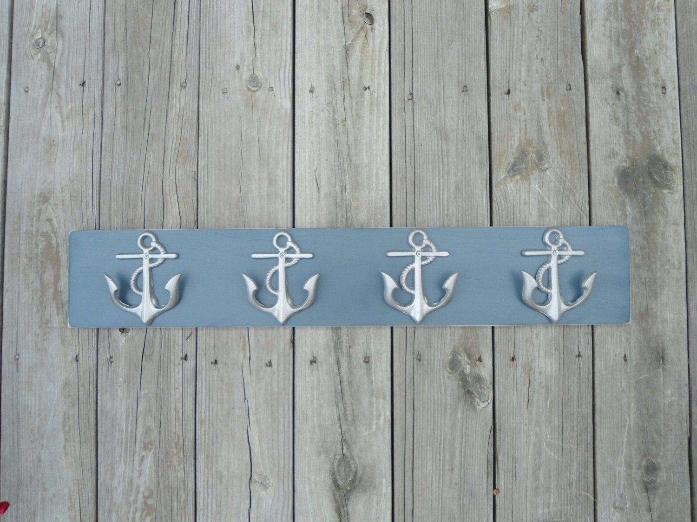 Coastal Towel Racks For Bathroom: Bathroom Towel Rack Anchors Home Renovation Cottage Nautical