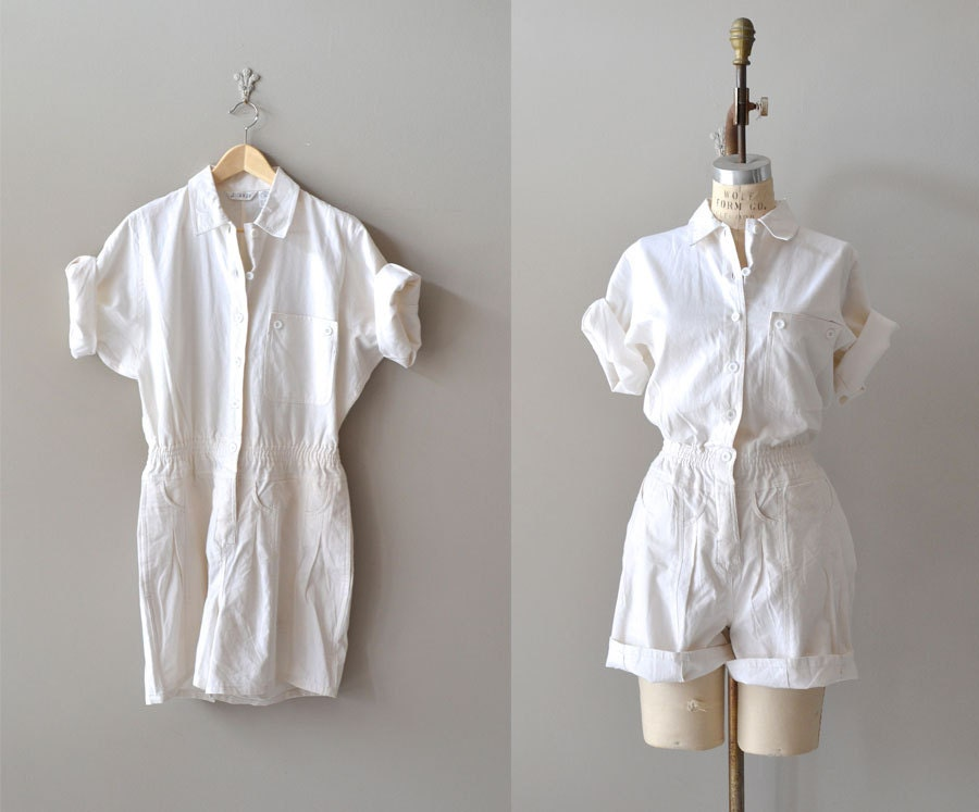 White Cotton Jumpsuit
