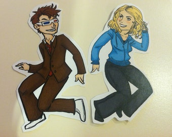 Doctor Who Stickers 10 and Rose