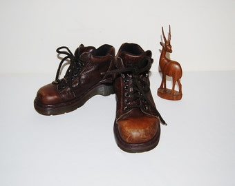 Vintage Chunky Brown Rugged  D.M.'s