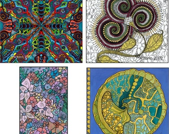 Abstract 2 Notecard Assortment - Acid Free - Suitable for framing - Notecards