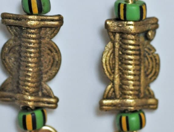 West Arican Brass Earrings