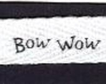 DOG Print or Dog Paw Print Ribbon Cotton Twill Printed Ribbon - 5 Yards