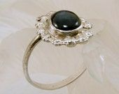 Sapphire and Sterling Silver Ring - Size 6 3/4  - can be resized