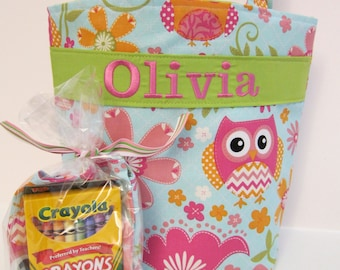Flower Girl Gift, Quiet Tote, Personalized Kids Tote with Crayon Roll, Design Your Own, 100s Fabric Choices