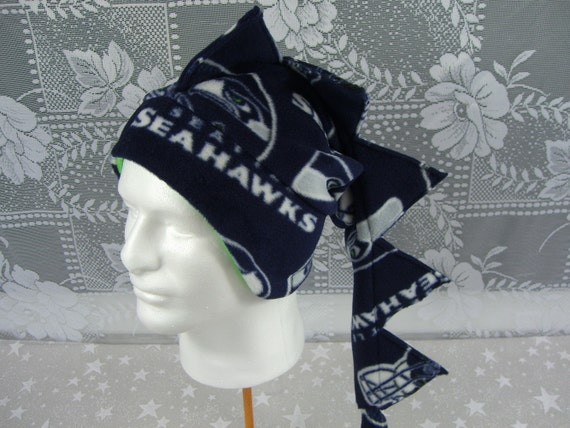 Dragon Hat, Snowboard Hat, Ski Hat, Winter Fleece Hat, Men's Winter Hat, Seattle Seahawks Hat