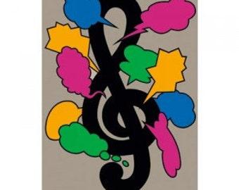 1985 19 Montreux Jazz Fest Poster Shigeo Fukuda Artist Vintage