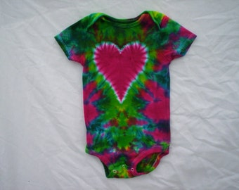 Baby Heart Tie Dye Baby Outfit 3 to 6 Month