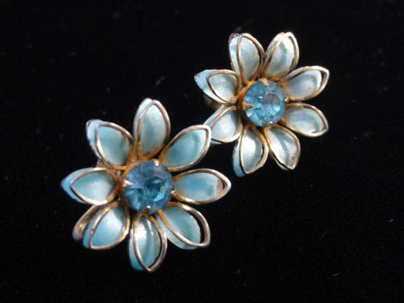Bugbee and nile earrings aqua blue enamel by daisygatordesigns for Bugbee and niles jewelry
