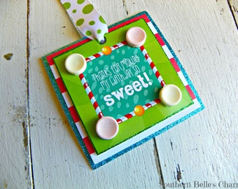 Candy Favor Tags...Set of 10 Favor Tags