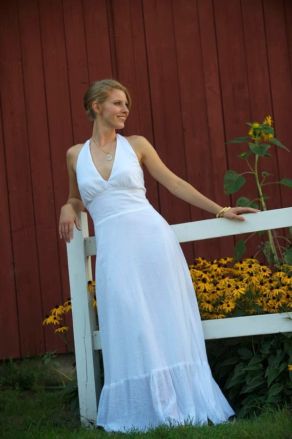 Mariana a cotton wedding dress that is a natural simple for Simple cotton wedding dress