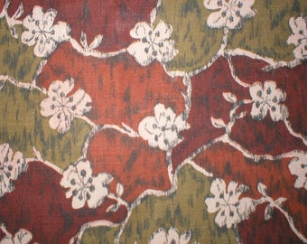 2 1/2 yards 38 wide Vintage 50s abstract floral cotton dressmaking  fabric