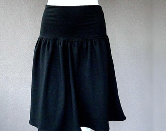 Short black skirt, organic cotton clothing, more colors, organic cotton skirt, more colors
