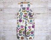 SUPER SALE - Overall in Creamy Urban Garden - featured in Pregnancy & Newborn Magazine