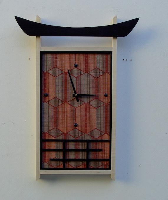 Asian clock theme wall