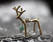 "Gilded Reindeer Charm Necklace - ""A Florida Christmas"""
