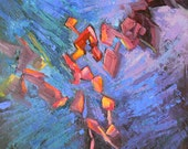 """Contemporary Painting, 12x12"""" Abstract, """"Mardi Gras"""", Original Abstract"""