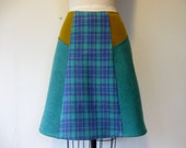 Reserved for Maricella- SALE Petunia wool paneled skirt Sz 6