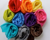 SALE!! SAVE 40 % - - - set of 10 - save - natural play silk scarf - 21x21 playsilk - hand-dyed