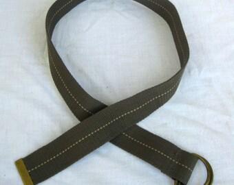 Olive Drab Green Woven Belt