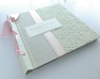 12x12 Baby Scrap book or Photo album-lace Design