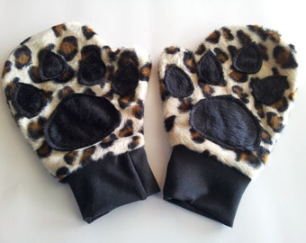 Custom Paw Padded Mittens To Match A Costume