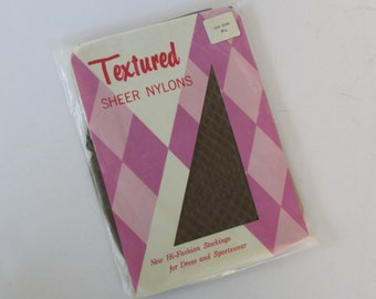 Texured Dark Brown Sheer Stockings