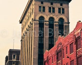 Buildings in Detroit Fine Art Photograph on Metallic Paper