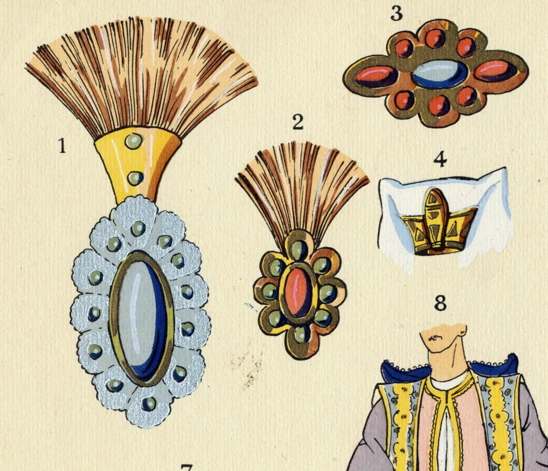 1925 french art deco hand coloured pochoir print on oriental for Pochoir deco