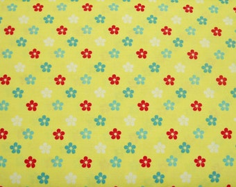 SALE - End of Bolt - Amelie, Yellow, Henry Glass Fabric, 100% Cotton Quilt Fabric, Yellow Fabric, Floral Fabric, Quilting Fabric