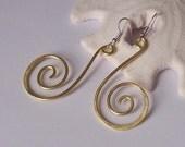 Statement Earrings - HYPNOTIZE Dangle Earrings - Copper - Brass - or German Silver - Choose Your Metal