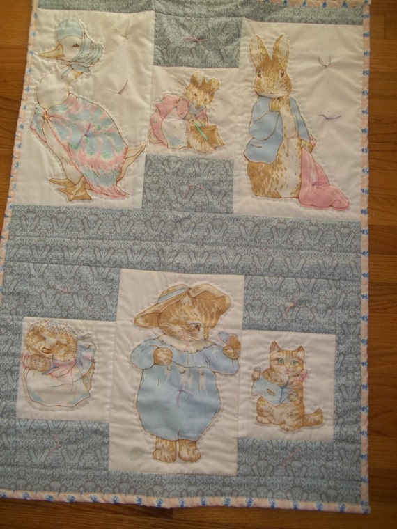 Peter Rabbit Baby Quilt Beatrix Potter By Cottagedaydreams