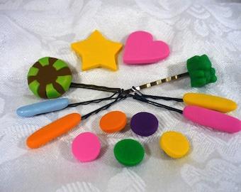 Vanellope von Schweetz Style Hair Candy Pins and Snaps - 13 pieces