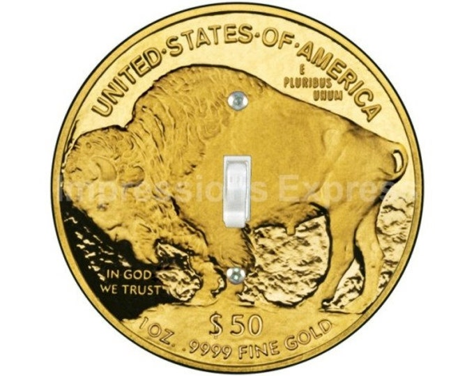 Gold Bullion Coin Single Toggle Switch Plate Cover