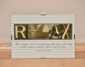 "5""x7"" 'RELAX' - allisonmariedesign"