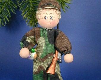 Hunter Clothespin Ornament; Duck Hunter Ornament