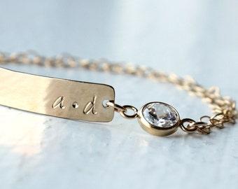 Personalized Bracelet | Bridal Bracelet | Bridesmaid Bracelet | Bridesmaid Gift [Lovestruck ID Bracelet]