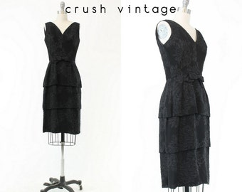 50s Dress XS / 1950s Vintage Wiggle Dress / The Sweet Tea Dress