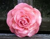 Free Shipping REAL Natural Soft Pink ROSE Pin and Pendant