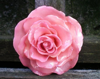 Free Shipping REAL Natural Soft Pink ROSE Pin and Pendant