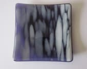 Soap Dish in Purple and White 4.5""