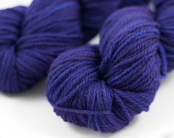 "CLEARANCE Merino Aran ""Eggplant"" Purple Semi Solid"
