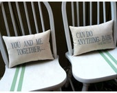 Dave Matthews- You and Me, Customizable lyric pillow