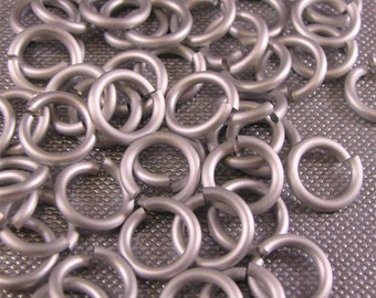 16g 1/4 Inch Jump Rings Silver Frost