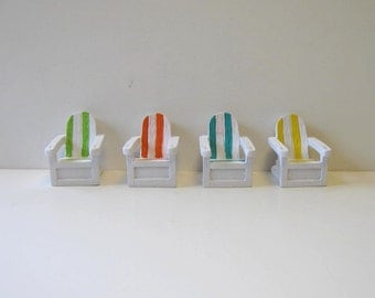 5 Adirondack placecard holder, photo holder, Custom color, Party favor, Decoration