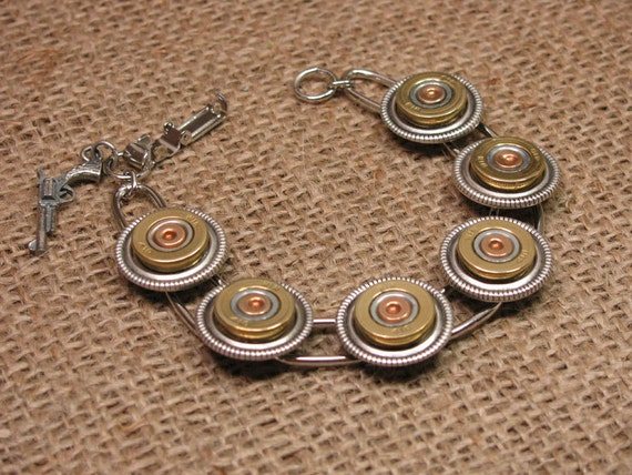 Shotgun Casing Jewelry - Shotshell Jewelry - Winchester 410 Gauge Shotgun Casing Bracelet